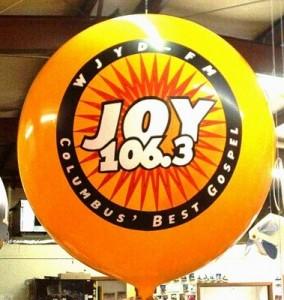 helium advertising balloons
